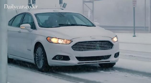 ford self driving in snow 출처=ford