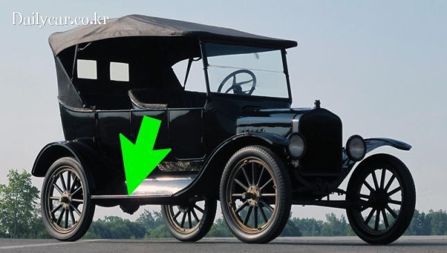 1912년형 포드 모델 T의 러닝보드