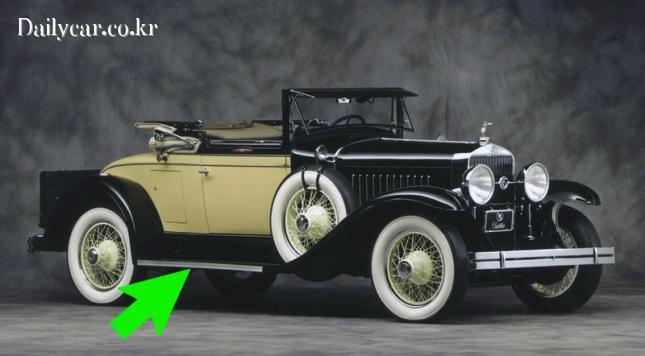 1927년형 캐딜락의 러닝보드