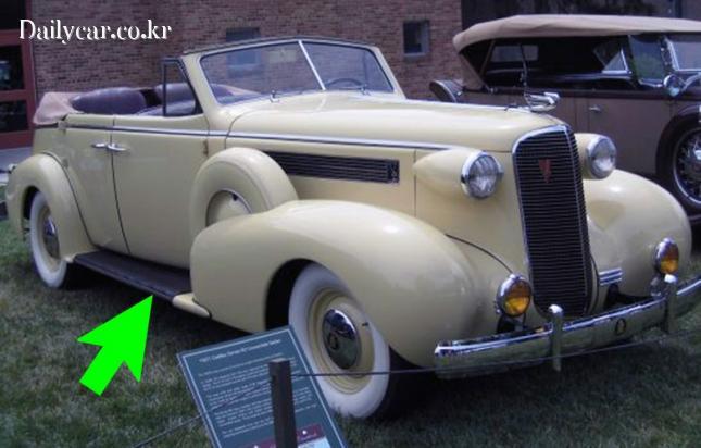 1937년형 캐딜락 V8 모델의 로커 패널