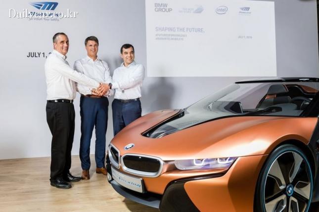 인텔-BMW-모빌아이 CEO 자율주행 협력 발표