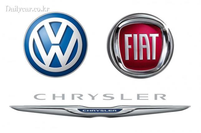 volkswagen fiat chrysler logos 출처=autocar