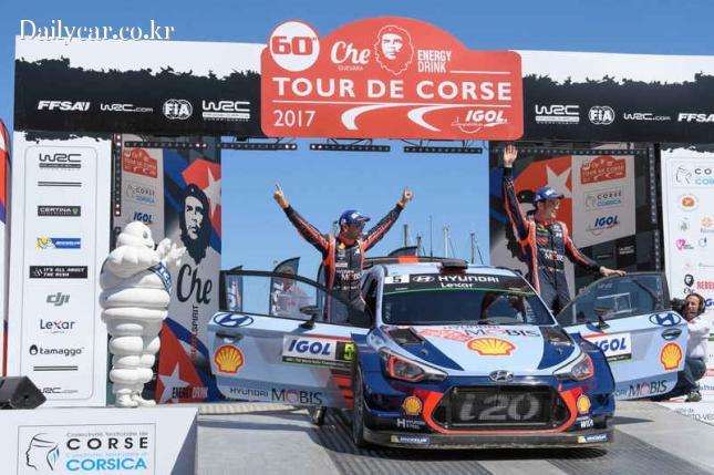 현대 월드랠리팀 WRC 더블포디움 달성