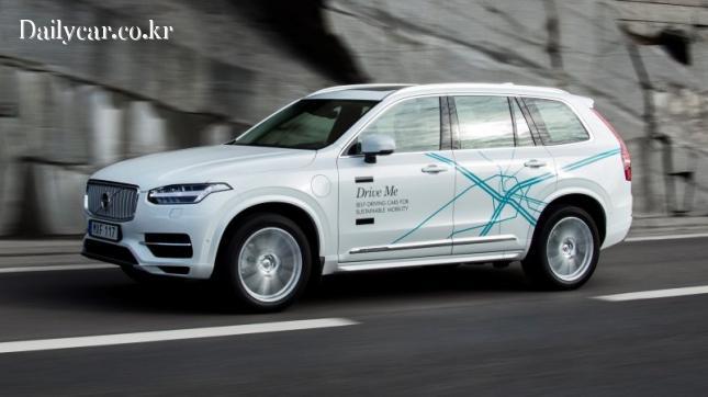 Volvo XC90 Drive Me test 출처=autocar