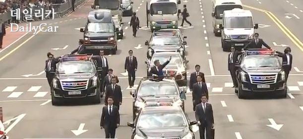 대통령 경호차량으로 활용된 캐딜락 에스컬레이드