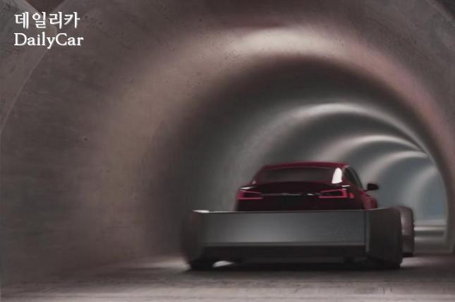 보링 컴퍼니, 지하 캡슐 터널 시뮬레이션