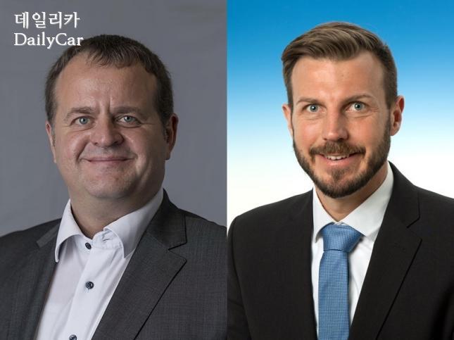 요한 헤겔, 마틴 바 아우디폭스바겐 코리아 신임 이사(왼쪽부터)