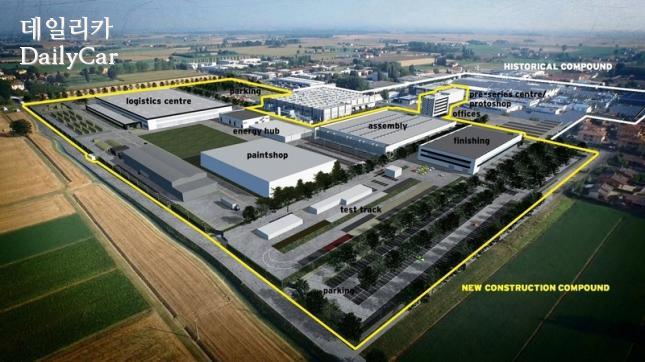 람보르기니 신규 공장 (이탈리아 산타가타 볼로냐)