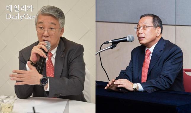 박동훈 르노삼성자동차 사장, 최종식 쌍용자동차 사장(왼쪽부터)