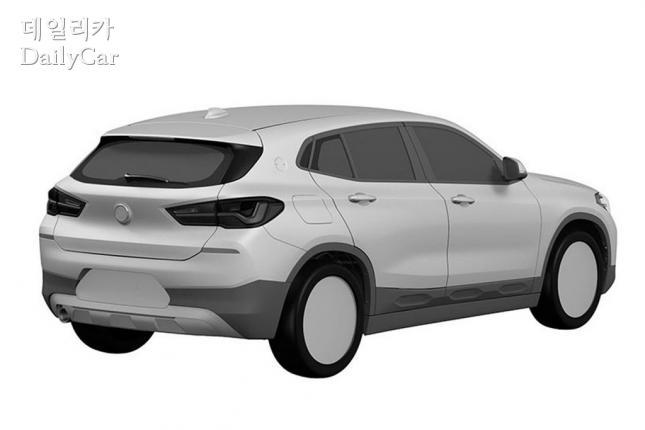BMW, X2 특허 이미지 (출처 오토익스프레스)