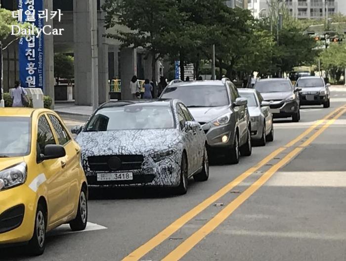 벤츠 A클래스 시험주행 차량(제공: 데일리카 독자 강병엽 님)
