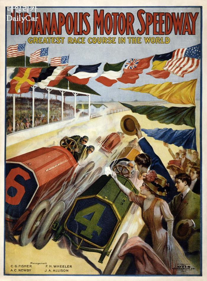 1900년대 초반의 인디애나폴리스 경주 포스터