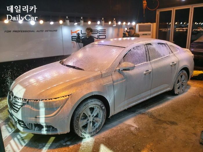 쉴드런, SM6 튜닝 경찰차 (유리막코팅, 거품세차)