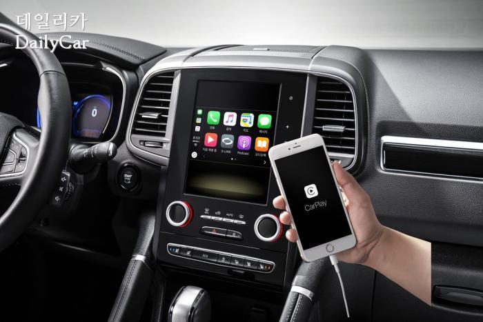 르노삼성, 2019년형 QM6(애플 카 플레이)