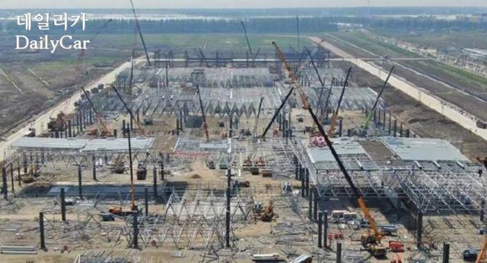 상하이 기가팩토리3 건설현장