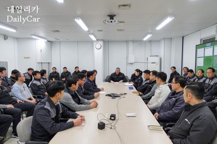 드 로스 모조스 르노그룹 부회장 (부산공장 방문)