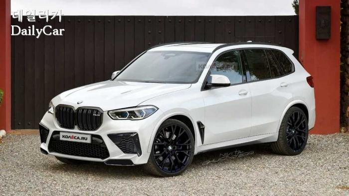 BMW, X5 M 예상 렌더링(출처 Kolesa)
