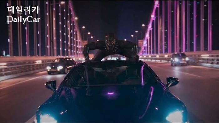 영화 ′블랙팬서′에 등장한 렉서스 LC