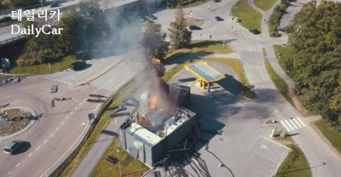 수소 충전소 폭발사고 현장(출처: TU)