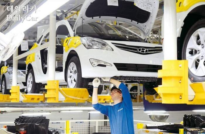 현대차 러시아공장 누적생산 100만대 달성
