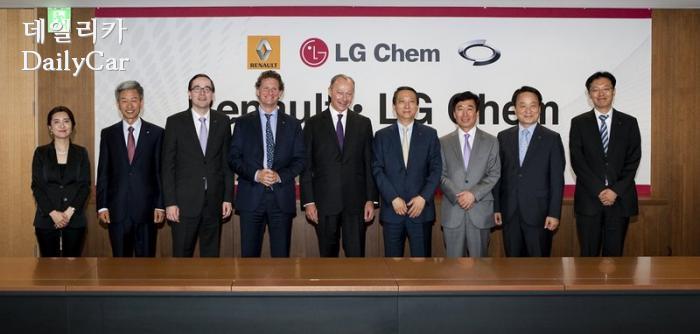 르노삼성-LG화학 차세대 장거리 전기차 개발 MOU체결