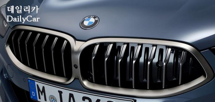 2020년형 BMW 8시리즈의 라디에이터 그릴
