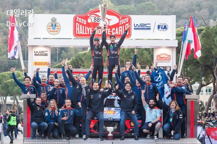 현대차 월드랠리팀 (2020 WRC 몬테카를로 랠리 우승)