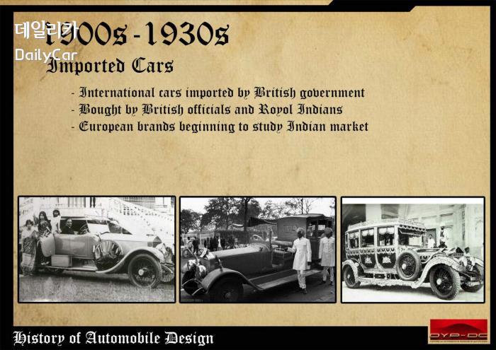 1900~1930년대 인도 자동차산업의 태동 (출처 DYPDC)