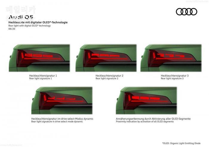 아우디 신규 OLED 램프가 공개됐다