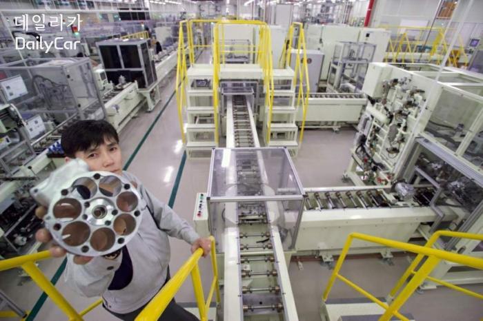 한라비스테온공조, 컴프레서 생산라인