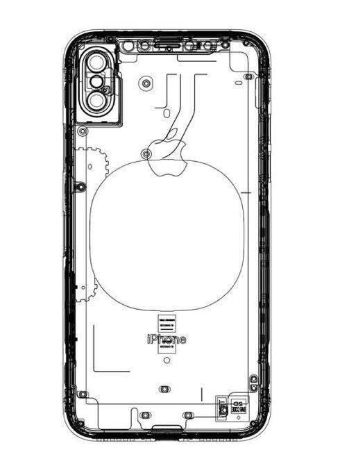 아이폰 8의 설계 도면으로 추정하는 이미지