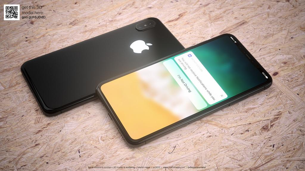 마틴 하젝의 아이폰8 콘셉트 이미지
