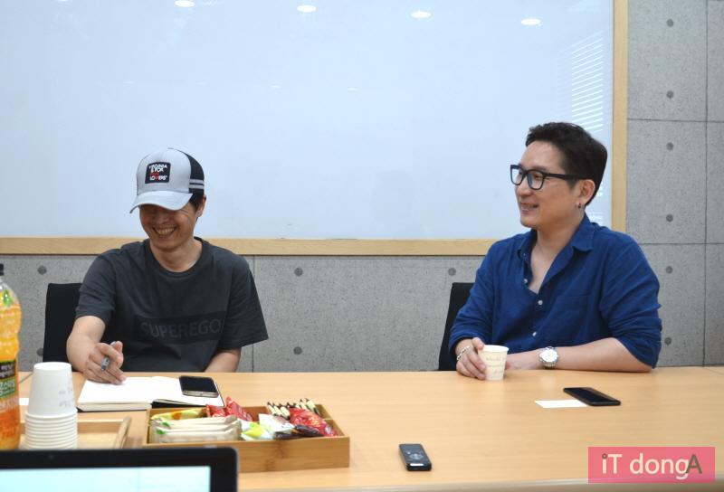 투엘이미지웍스 이수영 대표(우)와 VFX팀 전석재 이사(좌)