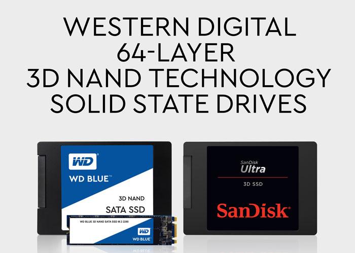64단 3D낸드를 적용한 WD와 샌디스크의 SSD