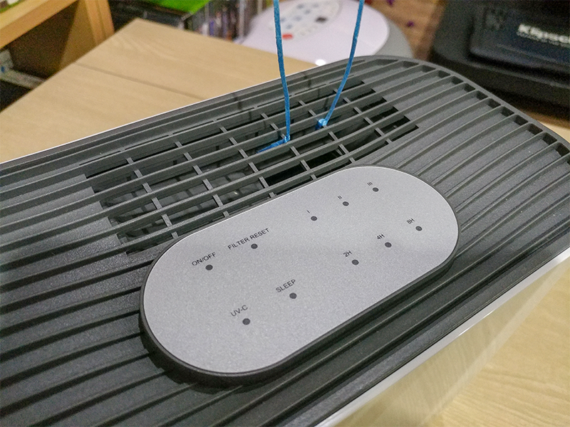 저소음 모드에서는 전면에 모든 LED 표시등이 꺼지고, 소음도 거의 없는 상태로 작동한다