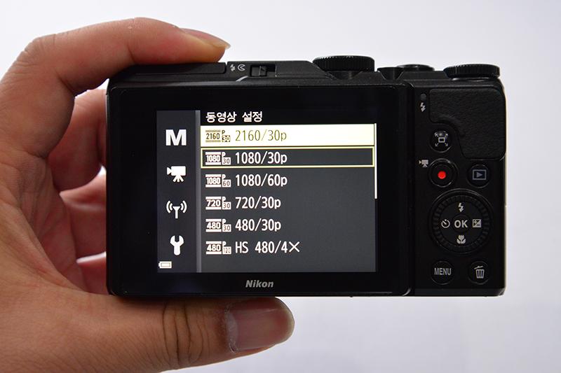 니콘 쿨픽스 A900은 4K 촬영도 가능하다.