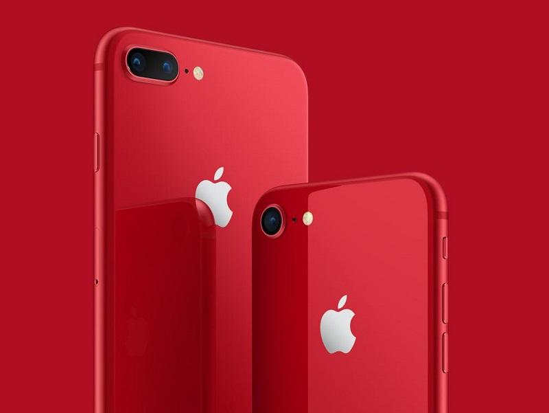 애플 아이폰 8·아이폰 8 플러스 프로덕트 레드 에디션.