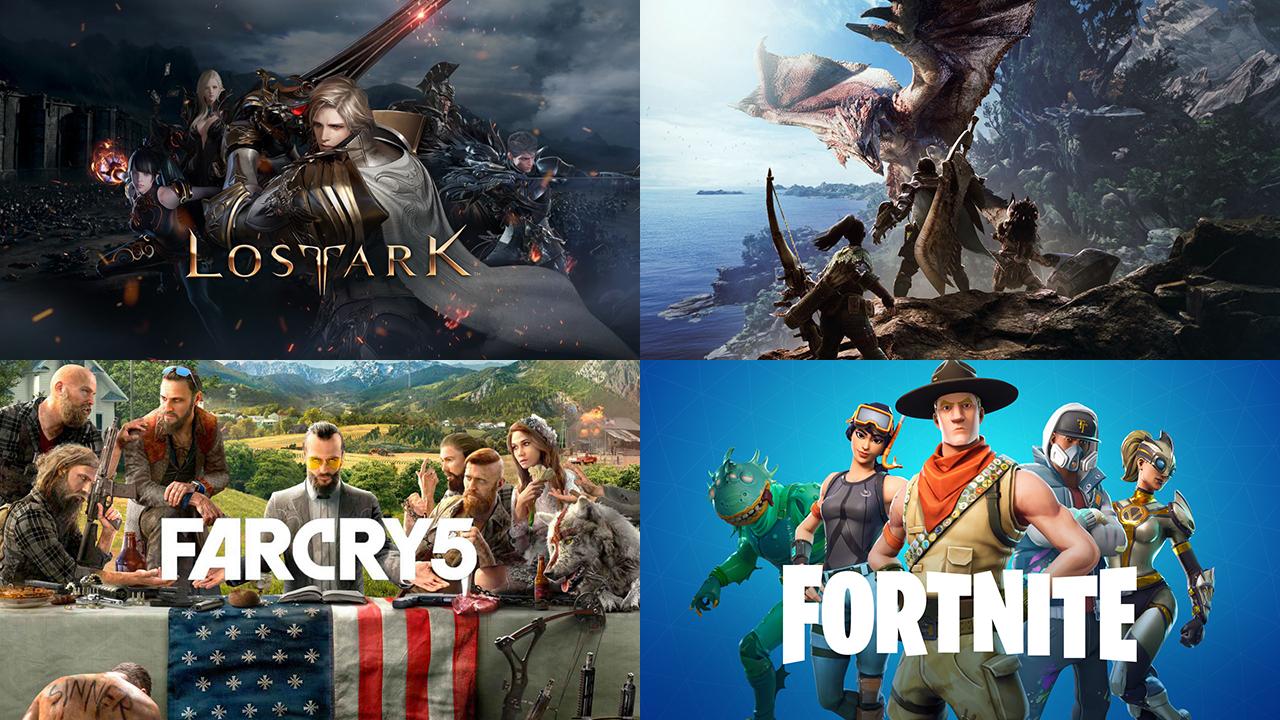 2018년에도 여러 게임들이 게이머의 선택을 받았다.