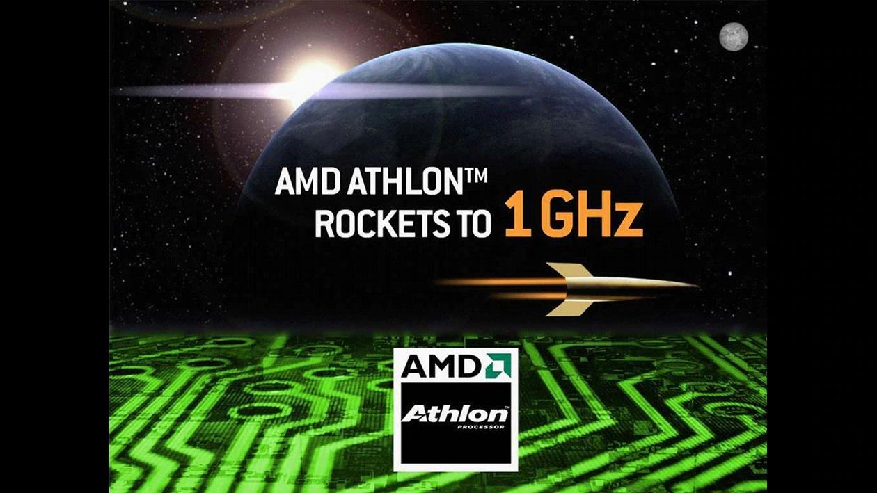 애슬론 1000 프로세서는 1GHz를 돌파한 첫 CPU로 기록됐다.