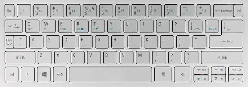 한/영 전환키(오른쪽 Alt)가 없는 일부 해외판 노트북의 키보드