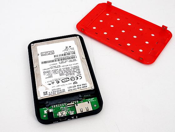 외장형 케이스에 HDD를 결합하면 외장하드가 된다