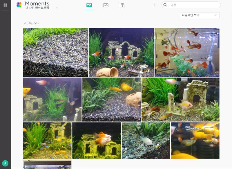 구글 포토를 연상시키는 NAS 전용 사진 관리 서비스 '모먼트'