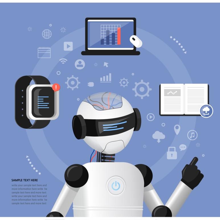 클로봇의 기술의 원천은 클라우드 기반의 로봇 관리 시스템이다, 출처: 클립아트코리아