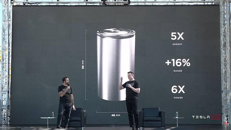 테슬라는 새로운 공정과 구조를 가진 배터리를 통해 생산 효율과 성능 모두 끌어올렸다고 발표했다. 출처=테슬라