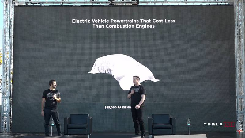 현재 모델 3보다 더 저렴한 25,000달러의 전기차를 출시하겠다는 계획도 밝혔다. 출처=테슬라