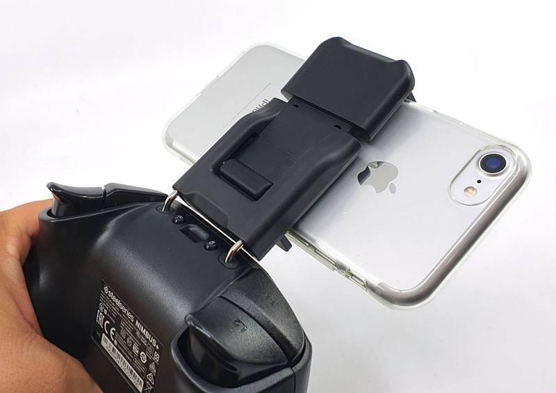 마운트에 아이폰7을 거치한 모습