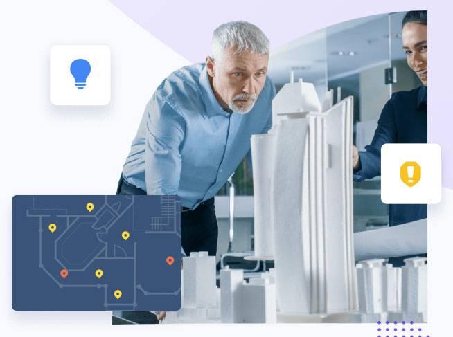 IoT SaaS 체계가 적용된 스마트 빌딩의 이미지 (출처=투야)