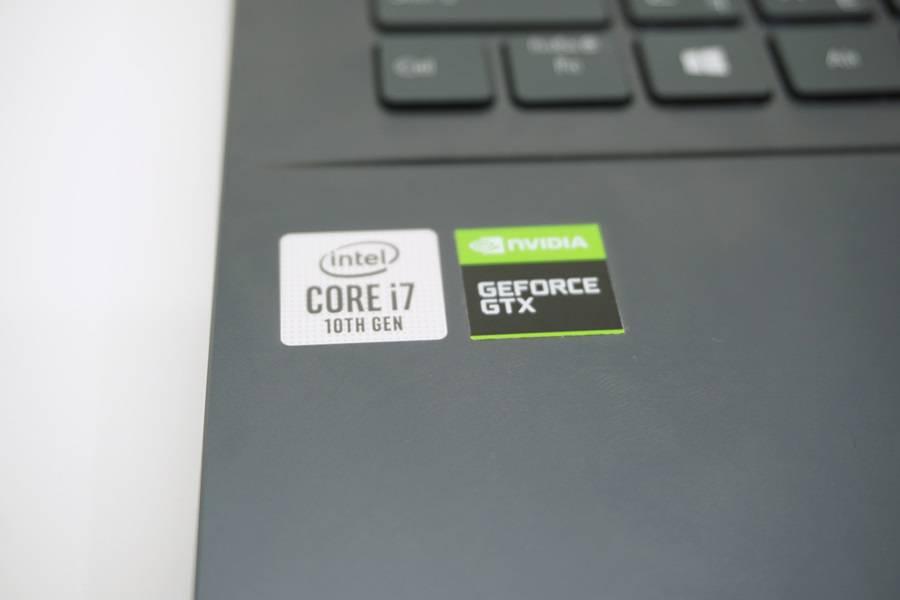 인텔 10세대 코어 H 시리즈와 지포스 1650ti가 탑재됐다