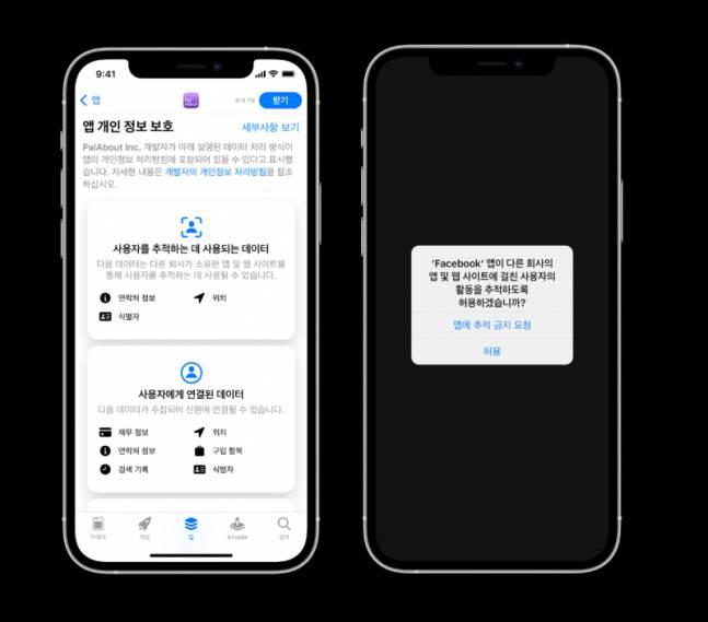 애플의 앱 트래킹 투명성 정책, 출처: 애플