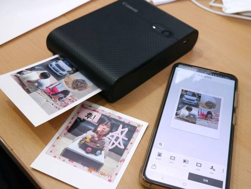 캐논 셀피 스퀘어 QX10를 이용한 모바일 사진 출력